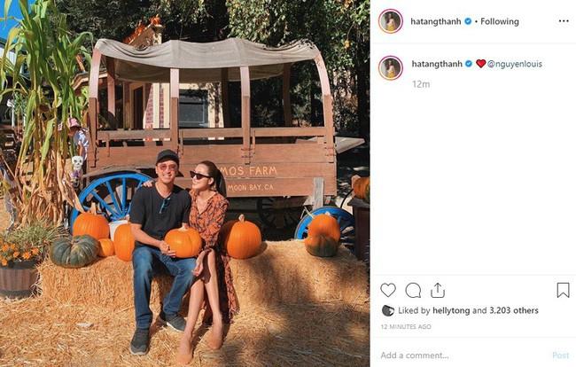 Tăng Thanh Hà đăng ảnh tình tứ bên ông xã Louis Nguyễn nhân dịp cả gia đình chuẩn bị lễ Halloween - Ảnh 1.