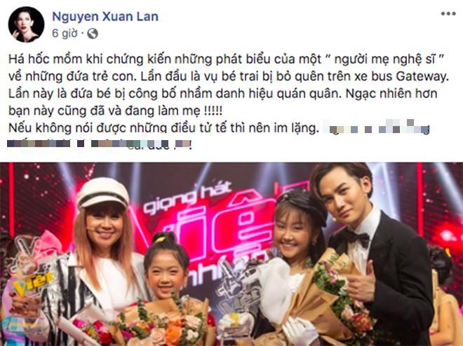 Xuân Lan bức xúc với phát ngôn của Lưu Thiên Hương về vụ đọc nhầm kết quả The Voice Kids - Ảnh 1.