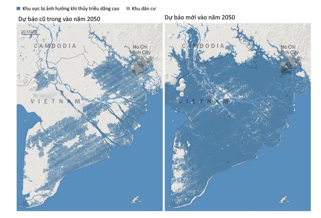 Tạp chí Nature: TP.HCM và hầu hết miền Nam Việt Nam sẽ chìm dưới nước sau 31 năm nữa - Ảnh 1.