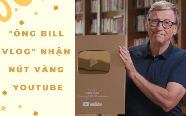 Bill Gates – YouTuber duy nhất trên thế giới có thể mua đứt YouTube, vừa nhận nút vàng sau 7 năm hoạt động, video đập hộp dài vỏn vẹn 27s có gần 2 triệu lượt xem! - Ảnh 1.