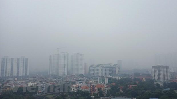 Sau 'cơn mưa vàng' chỉ số ô nhiễm ở Hà Nội lại 'đỏ rực' - Ảnh 2.