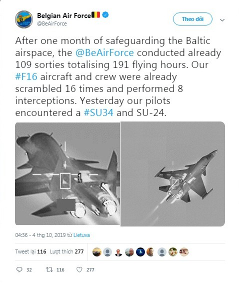 NATO công bố hình ảnh ngăn chặn máy bay siêu thanh Su-34 và Su-24 của Nga - Ảnh 1.