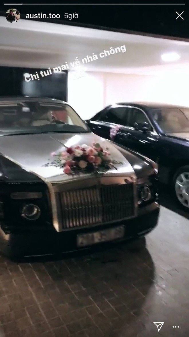 """Lộ diện chiếc Roll Royce hộ tống rich kid Giang Lê trong ngày cưới, bao nhiêu nhân sự """"chạy phờ râu"""" trước giờ G cũng không đủ - Ảnh 3."""