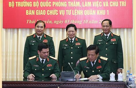 Triển khai quyết định điều động, bổ nhiệm 5 tướng lĩnh quân đội - Ảnh 2.