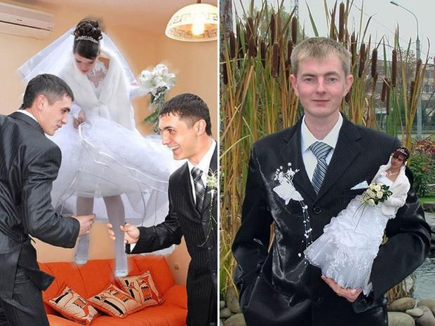 Hồn vía lên mây khi các phó nháy người Nga trổ tài photoshop ảnh cưới, báo hại gia chủ khóc dở mếu dở - Ảnh 3.