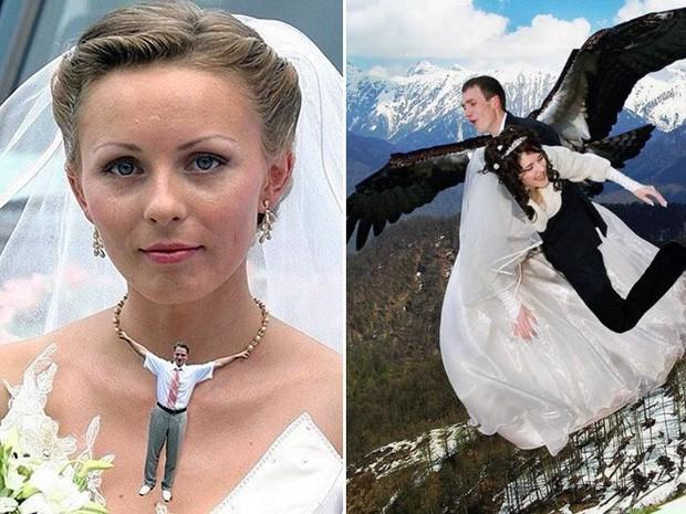 Hồn vía lên mây khi các phó nháy người Nga trổ tài photoshop ảnh cưới, báo hại gia chủ khóc dở mếu dở - Ảnh 6.
