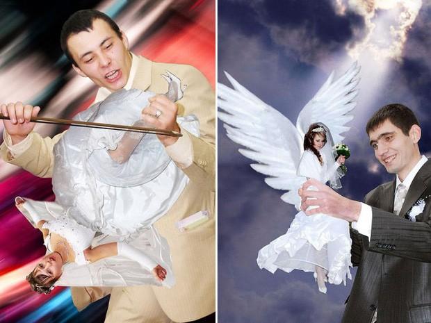 Hồn vía lên mây khi các phó nháy người Nga trổ tài photoshop ảnh cưới, báo hại gia chủ khóc dở mếu dở - Ảnh 9.