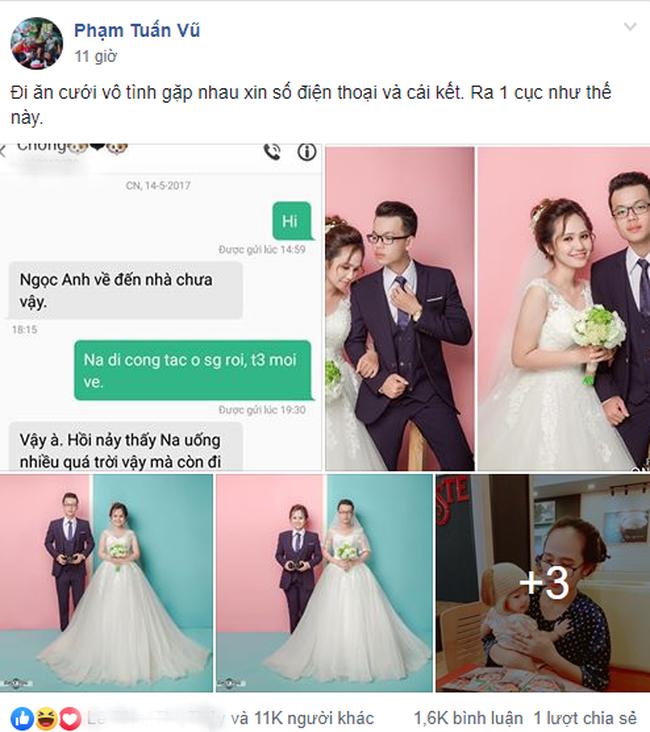 Cặp đôi mới quen nhau 99 ngày đã nên duyên vợ chồng: Chỉ đi đám cưới người ta mà tha được cả cô vợ về - Ảnh 1.