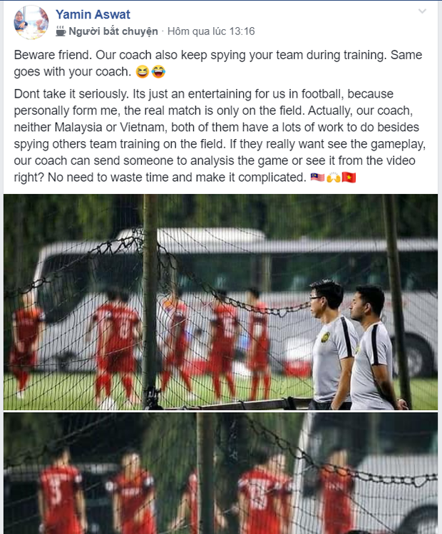 Fan Malaysia: HLV của chúng tôi nhiều việc lắm, không có thời gian xem trộm tuyển Việt Nam tập đâu - Ảnh 1.