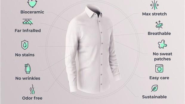 Tây Ban Nha ra mắt loại áo sơ mi có thể giúp người mặc giảm bớt căng thẳng - Ảnh 1.