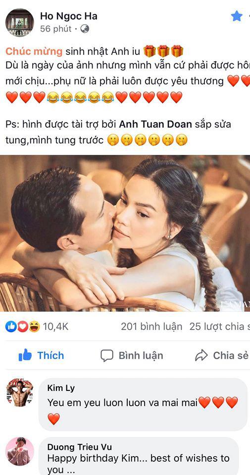 Phản ứng của Kim Lý khi Hồ Ngọc Hà muốn được hôn  - Ảnh 1.