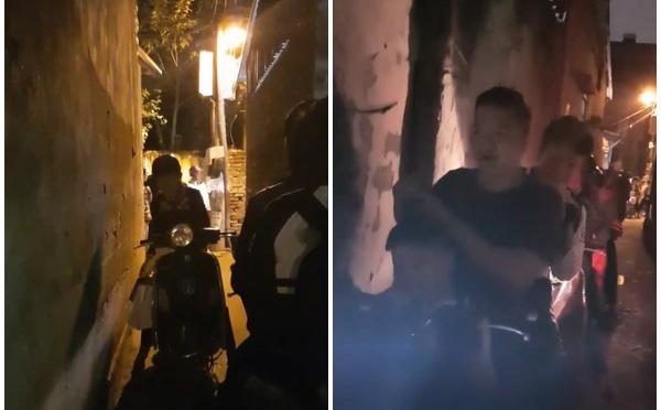 Người phụ nữ đối đầu, quyết không nhường đường cho cả đoàn gần 20 xe máy trong ngõ hẹp