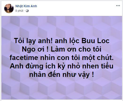 Nhật Kim Anh công khai van xin chồng cũ cho được gặp con khiến fan đau lòng - ảnh 1