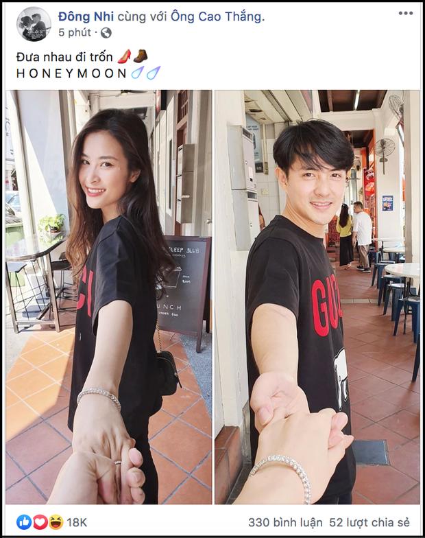 Đông Nhi - Ông Cao Thắng khoe ảnh tuần trăng mật ngọt ngào - ảnh 1