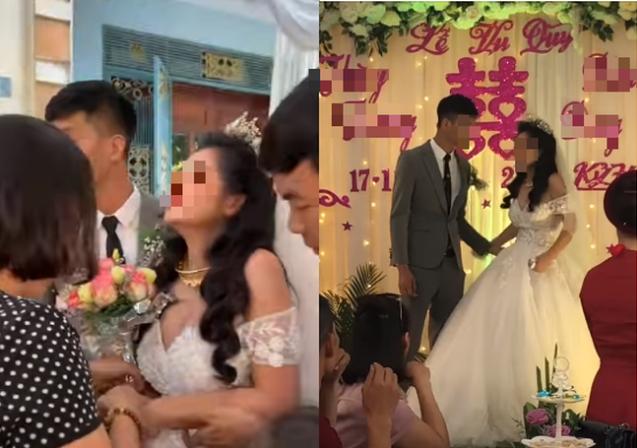 Cô dâu có biểu cảm kì lạ trong ngày cưới đang được MXH thi nhau đồn đoán nhưng thái độ xử lý tình huống của chú rể mới đáng nói - Ảnh 2.