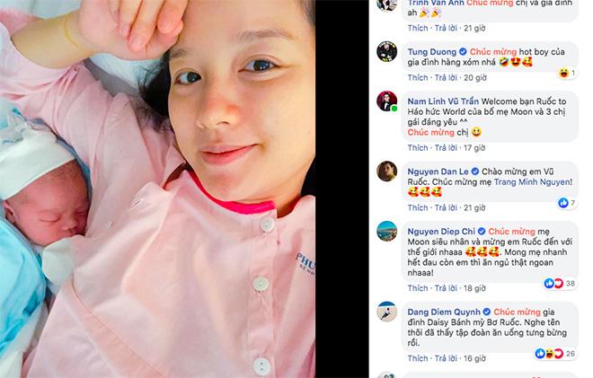 Phản ứng của Sao Việt khi biết MC nổi tiếng VTV sinh con thứ 4 - ảnh 1