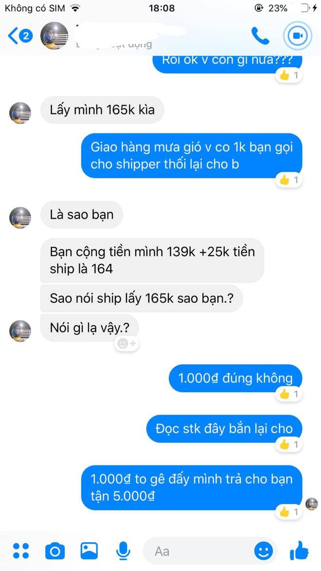 Khách hàng đòi chủ shop chuyển khoản 1k vì tổng tiền hết 164k mà shipper lấy 165k: Thánh rạch ròi của năm đây rồi! - Ảnh 1.