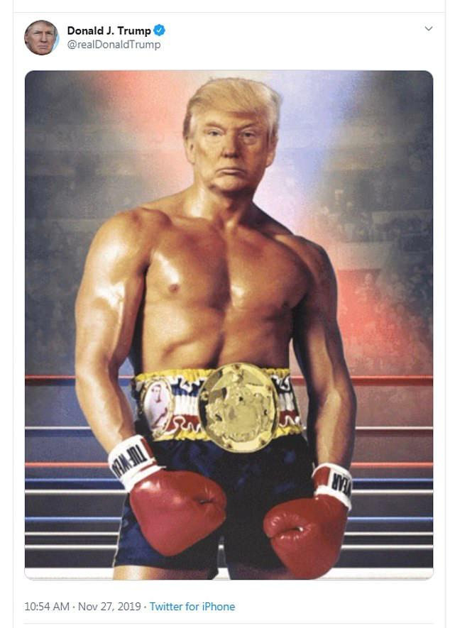 Ảnh chế cởi trần khoe cơ bắp của Tổng thống Trump dậy sóng mạng xã hội - Ảnh 1.
