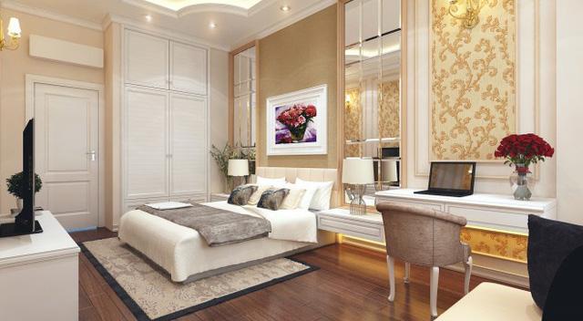 Nhà 1 trệt 1 lầu phong cách cổ điển đẹp sang trọng - Ảnh 3.