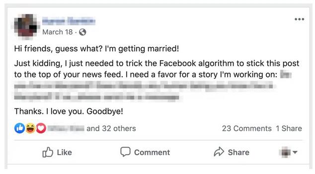 Hướng dẫn: thông báo có em bé hay vừa kết hôn này sẽ đánh lừa được thuật toán Facebook, tương tác bài đăng mạnh hơn nhiều - Ảnh 2.