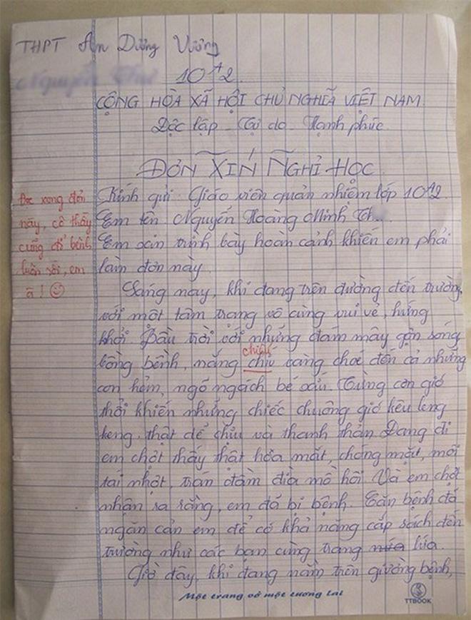 Thấy học sinh viết đơn xin nghỉ do mắc bệnh truyền nhiễm cấp tính virus gây ra, cô giáo tức tốc hỏi thăm nào ngờ nhận phải cú lừa hài hước - Ảnh 3.
