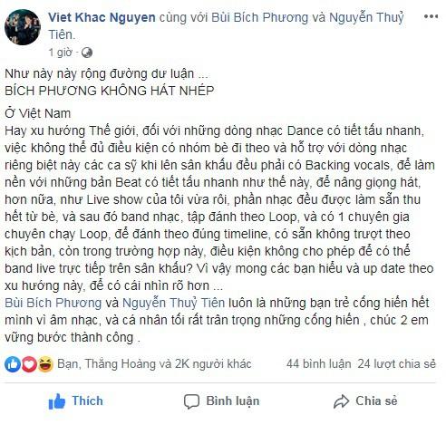 Khắc Việt khẳng định Bích Phương không hát nhép - Ảnh 1.