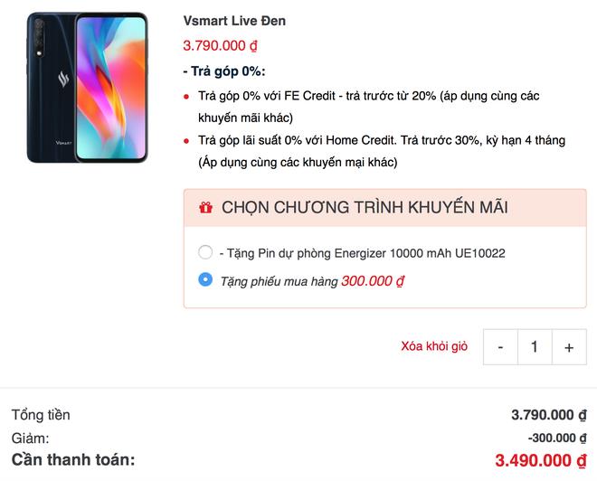 Vsmart Live giảm giá còn hơn 3 triệu: Vô đối phân khúc! - Ảnh 4.