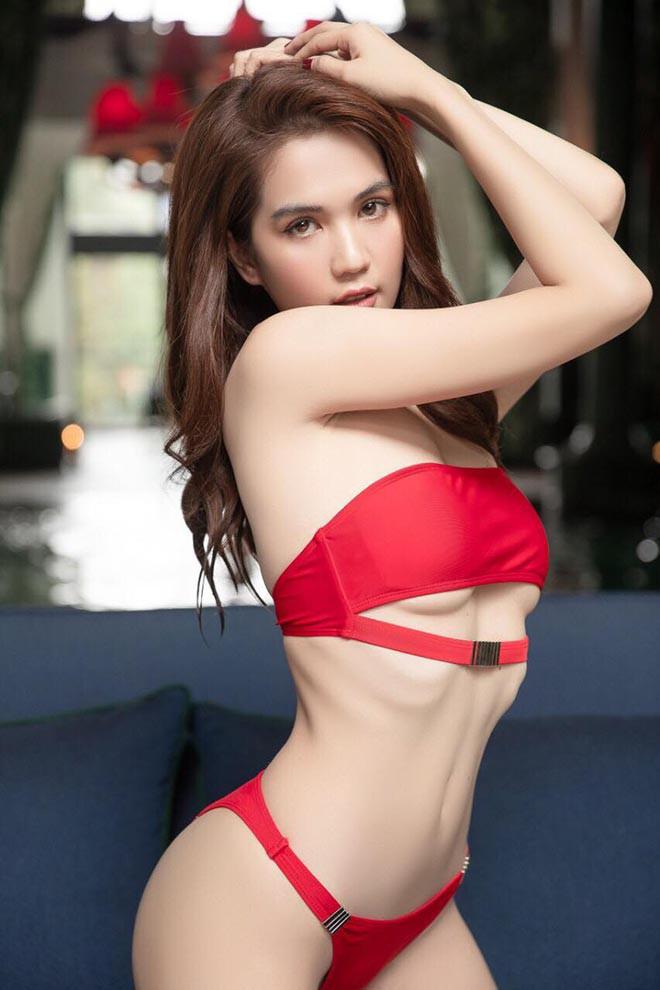 Ngọc Trinh mặc bikini đỏ rực, đầy nóng bỏng - Ảnh 3.