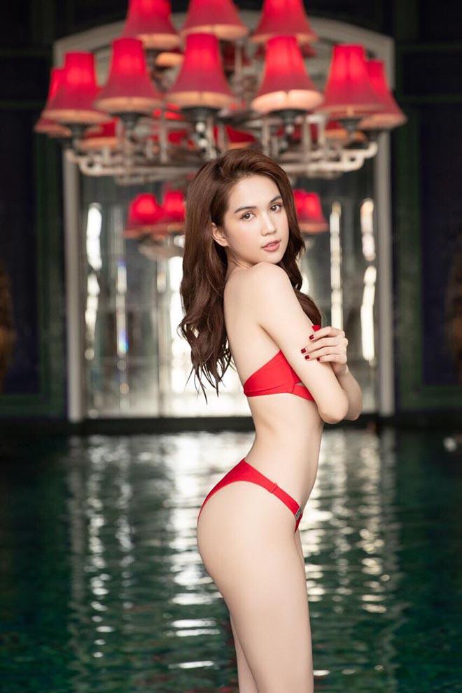 Ngọc Trinh mặc bikini đỏ rực, đầy nóng bỏng - Ảnh 5.