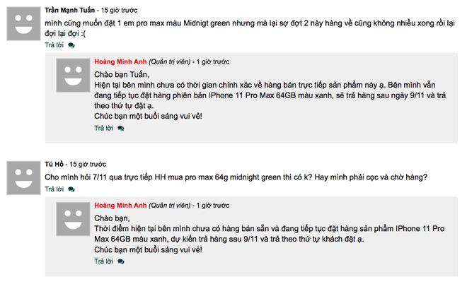 iPhone 11 Pro Max cháy hàng tại Việt Nam dù giá cao - Ảnh 5.