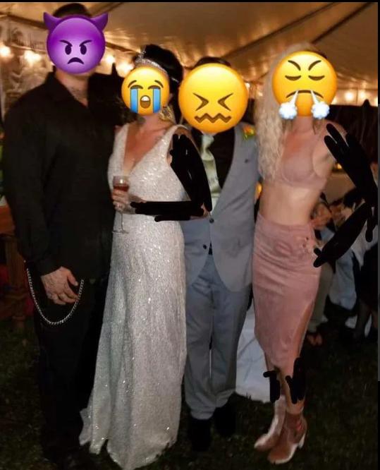 Chỉ mặc mỗi chiếc áo ngực đi đám cưới bạn, cô gái bị chỉ trích nặng nề - Ảnh 1.