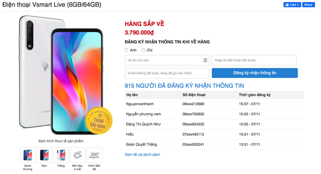 Lần đầu tiên có smartphone Việt được người Việt tìm mua nhiều đến độ cháy hàng - Ảnh 2.