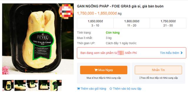 Bị cấm tại Mỹ nhưng về Việt Nam gan ngỗng béo vẫn được bán siêu đắt và nhiều mức giá chênh nhau đến vài trăm nghìn - Ảnh 2.