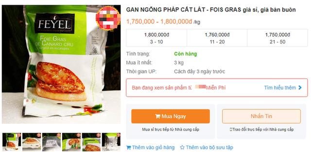Bị cấm tại Mỹ nhưng về Việt Nam gan ngỗng béo vẫn được bán siêu đắt và nhiều mức giá chênh nhau đến vài trăm nghìn - Ảnh 4.