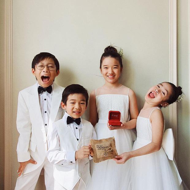 Biệt đội thiên thần trong siêu đám cưới Đông Nhi - Ông Cao Thắng: Nhà trai, nhà gái mỗi bên 'góp' 2 em bé - ảnh 1