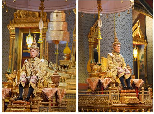 Cung điện phát hành hình ảnh mới của vợ chồng Quốc vương Thái Lan cho thấy sự khác biệt rõ rệt giữa Hoàng hậu và Hoàng quý phi - Ảnh 1.