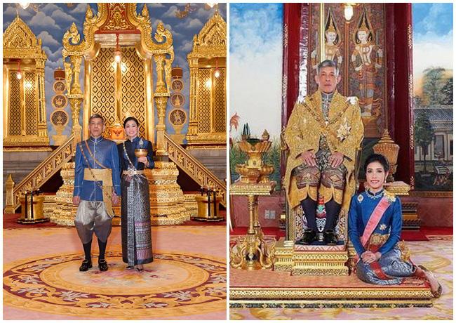 Cung điện phát hành hình ảnh mới của vợ chồng Quốc vương Thái Lan cho thấy sự khác biệt rõ rệt giữa Hoàng hậu và Hoàng quý phi - Ảnh 3.