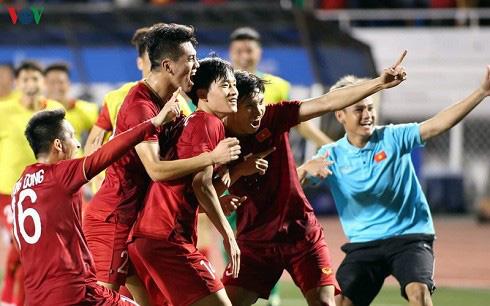 Thắng kịch tính Indonesia, U22 Việt Nam được thưởng nóng 1 tỷ đồng - Ảnh 1.