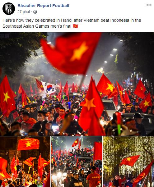 Báo thể thao hàng đầu nước Mỹ trầm trồ với cảnh fan Việt Nam ăn mừng tấm HCV SEA Games - Ảnh 1.