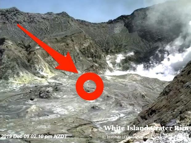 Du khách tại núi lửa đảo White trước khi thảm hoạ xảy ra