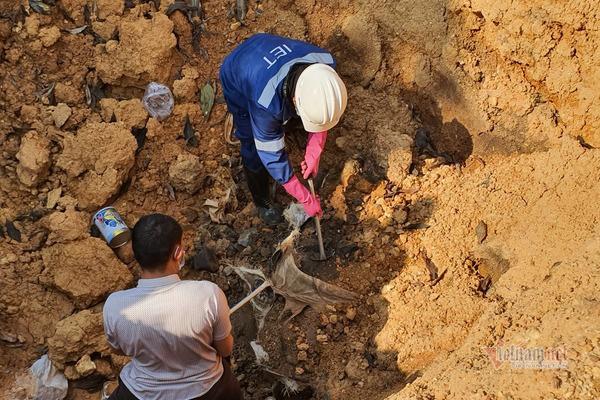 Vụ 11 hố bí mật chôn chất thải hôi thối, huyện Sóc Sơn vào cuộc - Ảnh 2.