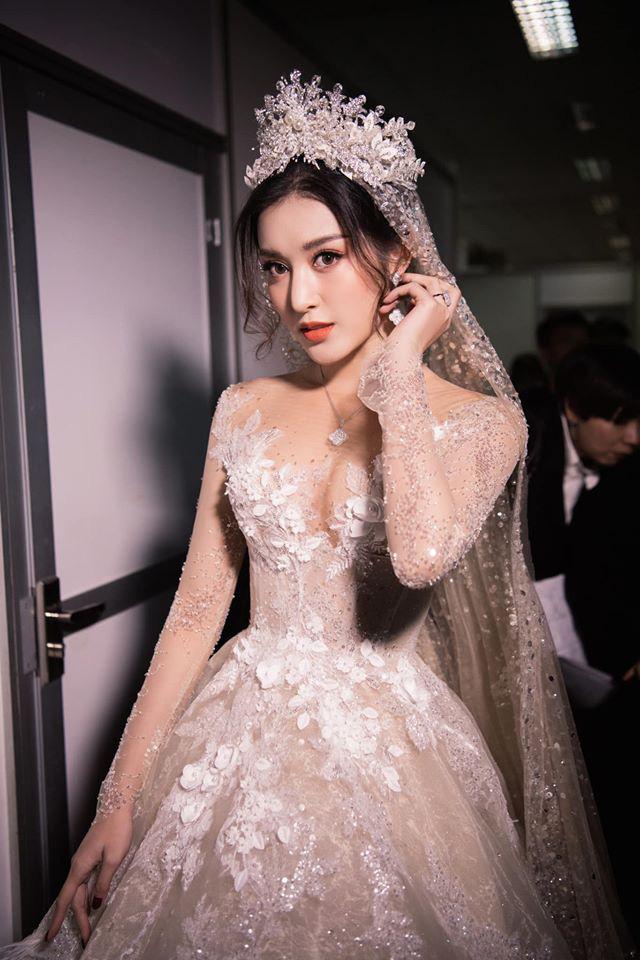 Á Hậu Huyền My lo lắng vì mặc váy cô dâu quá nhiều lần - ảnh 7