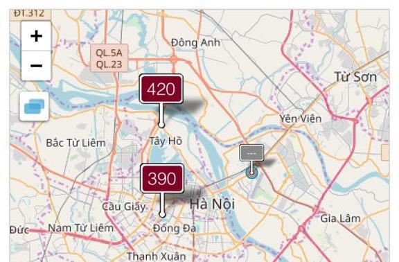 Không khí tại Hà Nội ở ngưỡng rất có hại cho sức khỏe mọi người - Ảnh 1.