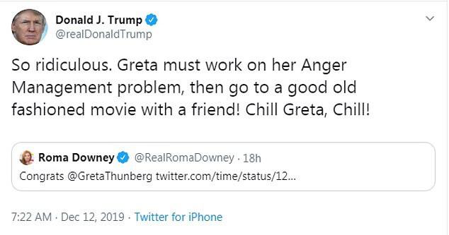 Nhà hoạt động môi trường nhí Greta Thunberg đáp trả sâu cay Tổng thống Trump khi bị ông mỉa mai việc được Time chọn là nhân vật của năm - Ảnh 1.