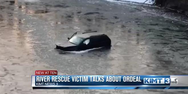 Bất cẩn lao xe xuống sông, anh thanh niên may mắn thoát chết nhờ hét lên gọi trợ lí ảo Siri - Ảnh 1.