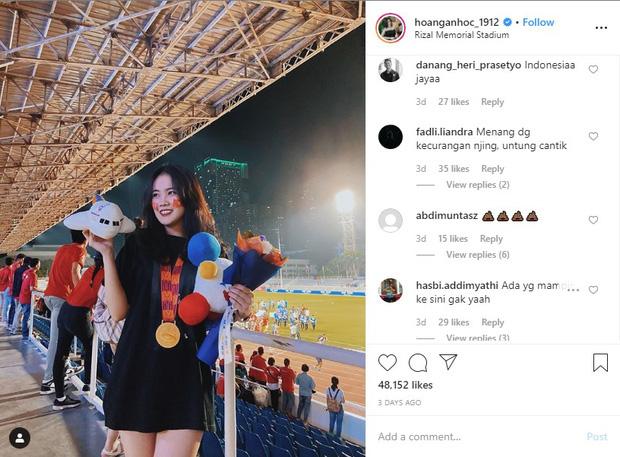 Fan Indonesia đánh chiếm Instagram của bạn gái Văn Hậu, buông lời khiếm nhã tới đôi trai tài, gái sắc - Ảnh 1.