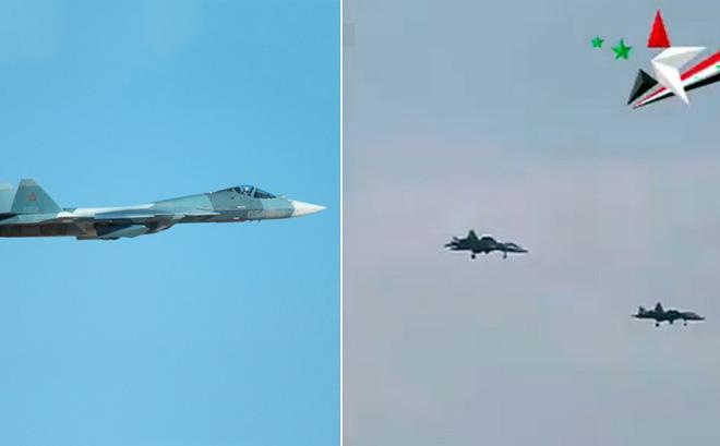 CẬP NHẬT: Tiêm kích tàng hình Su-57 Nga lại bất ngờ xuất hiện ở Syria - Thần không biết, quỷ không hay - Ảnh 14.
