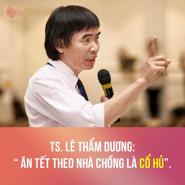 Tiến sĩ Lê Thẩm Dương bất ngờ bị cộng đồng mạng mắng tào lao khi phát ngôn: Ăn Tết nhà chồng là cổ hủ - Ảnh 1.
