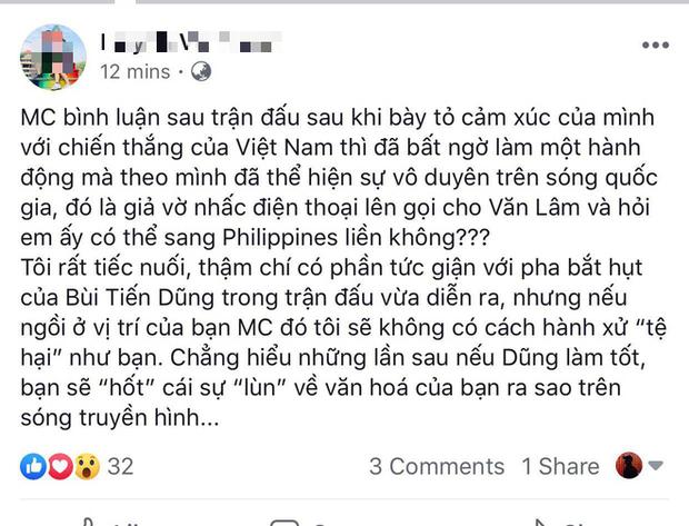 Fan phẫn nộ khi BTV Quốc Khánh troll Bùi Tiến Dũng bằng cách... gọi điện cho Văn Lâm sang bắt SEA Games - Ảnh 1.