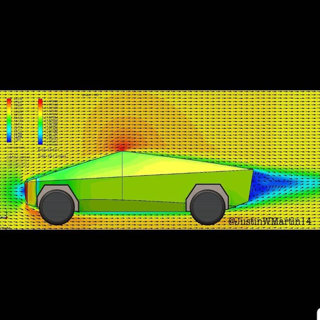 Anh YouTuber làm bài thử khí động lực học cho xe Cybertruck: hóa ra cục gạch 4 bánh này xé gió vút đi dễ dàng hơn bạn tưởng! - Ảnh 3.